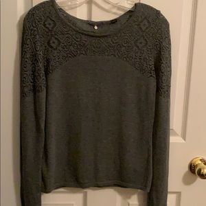 Anthropologie Sweaters - Anthro cut out sweater by Knitted  & Knotted.
